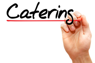 Hand writing Catering with marker, business concept