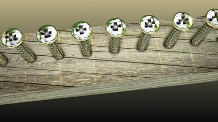 Concept with metallic screws
