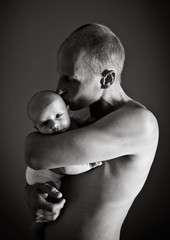 father holding baby 05