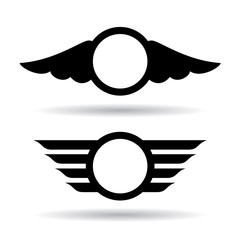 Abstract wings icons