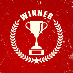 Winner retro icon
