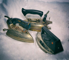 old irons. three