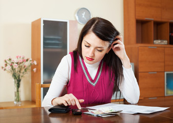 woman thinking about the financial issue