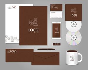 Geometric corporate identity template