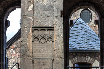 Stone of ancient roman gate Porta Nigra, Trier