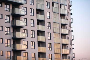 nowoczesny budynek mieszkania