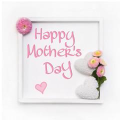 Happy Mother's Day in weiß und rosa