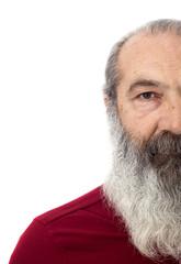 Senior with full white beard