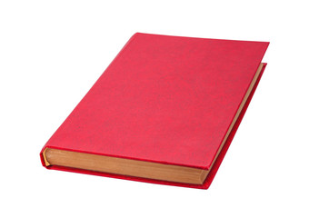 Closed red book isolated