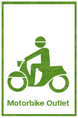 Idea from leaf.(Bike exit icon  concept