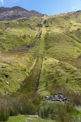 Exit incline of Croesor Slate Mine