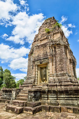 The East Mebon Temple at Angkor, Cambodia