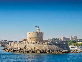 Rhodes sea fortress, Greece.