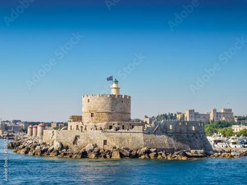 Rhodes sea fortress, Greece. - 80482248