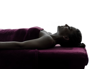 woman massage therapy silhouette