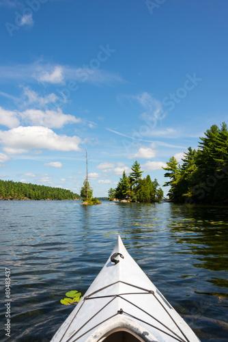Kayak On A Northern Lake - 80483437