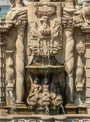 Salto del Agua Fountain in the historic center of Mexico City