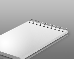 Empty block of paper on gradient background
