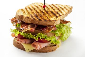 club sandwich on white background