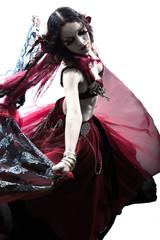 arabic woman belly dancer dancing silhouette