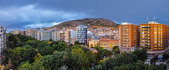 Puertollano, España, panorámica del Paseo de San Gregorio