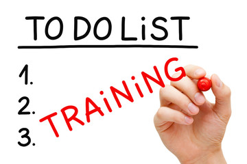 Training To Do List Concept