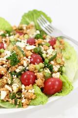 Healthy chickpea quinoa salad