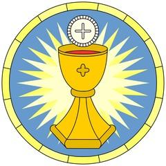 Eucharist (Christian Symbol), circular emblem