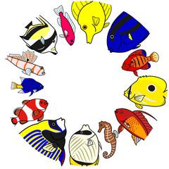熱帯魚 海水 円 コピースペース