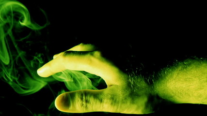 Mystical Hand with Green Smoke