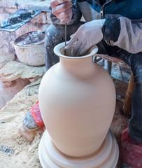 traditional handmade porcelain process