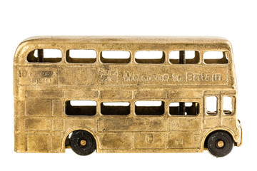 retro British bus toy