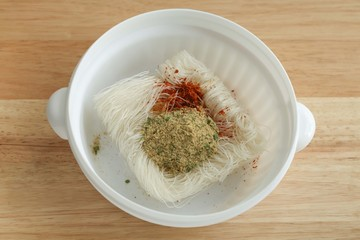 vermicelli noodles in bowl