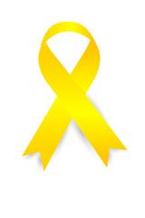 Yellow Ribbon on white background