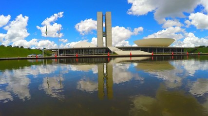 The National Congress in Brasilia city capital of Brazil