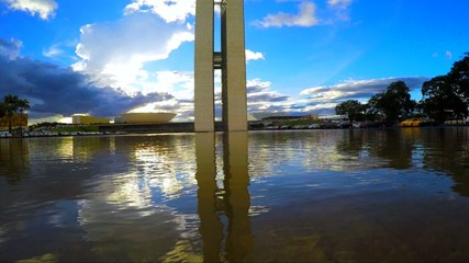 Sunset of the National Congress in Brasilia, Brazil