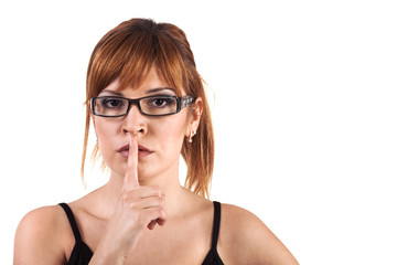 Shhh... Hush - Silence Please! Stock Image