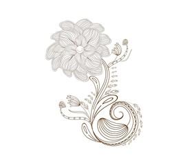 Flower doodle florals