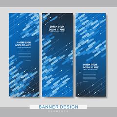 high-tech banner set template design