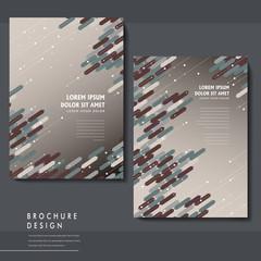 trendy brochure template design