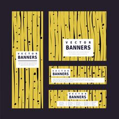 impressive yellow banner template design