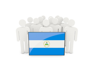 People with flag of nicaragua