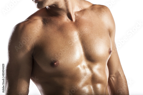 muscle man, a naked body of European latin muscle man - 80494409
