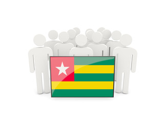 People with flag of togo