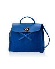 Blue leather lady handbag