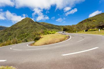 virage route des Plaines, île de la Réunion