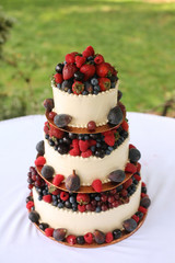 Wedding Cake with Berries