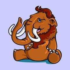 Smiling Sitting Mammoth
