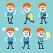 Character illustration design. Businessman set cartoon
