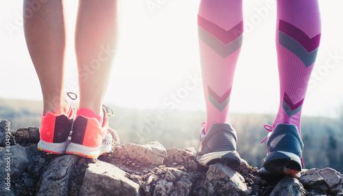 Zdjęcia na płótnie, fototapety, obrazy : athlete running sport feet on trail healthy lifestyle fitness